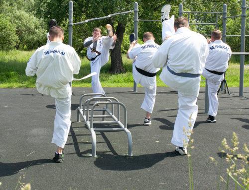 На территории парка в Крылатском прошла показательная тренировка!